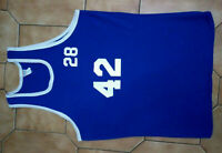 M EMPIRE VINTAGE 1980s BLUE BASKETBALL JERSEY UNION MADE IN THE USA