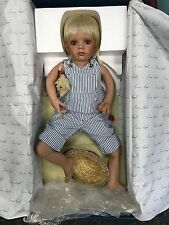 Susan Lippl Porzellan Puppe 75 cm. Top Zustand