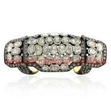 4.28ct Silver Amazing Knuckle Polki Ring Estate Artdeco Antique Rose Cut Diamond