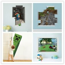 3D Popular  Cartoon Game Sticker Minecraft Wall Stickers Christmas Decoration
