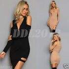 Fashion Women Sexy Long Sleeve Off Shoulder Bodycon Cocktail Party Slim Dress