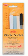 Im Nu Kleiber Wäsche-Zeichen Set KL 210 für Namenschilder Band  Schablone Stift