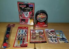 Disney Pixar Cars Tire Alarm Clock Flash Camera Kit Pens Erasers Keychain & More