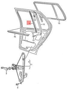 Genuine Volkswagen Window Guide NOS Golf Jetta 1H 1H2 1H5 1W 1H4839433B
