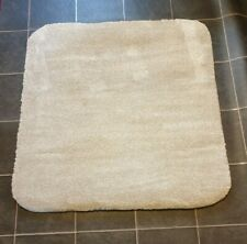 91cm Cream Super Soft Pile Square Rug High Quality Hard Back Carpet #10,096