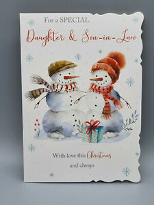 Daughter and Son In Law Christmas Card, Xmas Card, Merry Christmas With Love