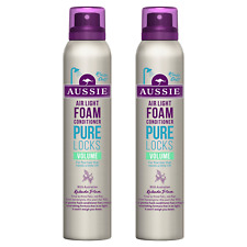 Aussie PURE LOCKS VOLUME Air Light FOAM CONDITIONER 2 x 180ml DUO * NEW