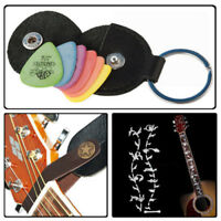 Guitar Leather Strap Button Hook + Picks Bag & Picks +Tree of Life Inlay Sticker
