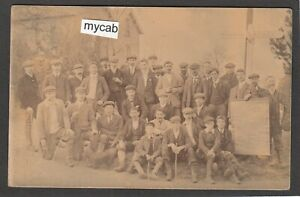 Postcard Hailsham nr Eastbourne Sussex gentlemen group posted 1908 RP