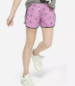 Justice Girl's Size 10 RACCOON Pompom Print Shorts New with Tags