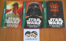 Lot 3 livres LA BIBLIOTHEQUE VERTE STAR WARS LA BIOGRAPHIE DARK VADOR  DARK MAUL