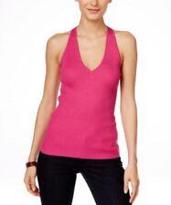 INC INTERNATIONAL CONCEPTS Size L Pink V Neck Dressy Sweater Tank Top Shirt A2