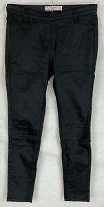 NEXT PETITE Womens Black Shiny Skinny Leather Effect Party Leggings Size 14