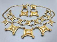 925 Silber vergoldet Parure Collier, Armband Ohrgehänge Italien 60er-80er Jahre