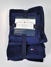 NEW 6 PC SET TOMMY HILFIGER CLASSIC SOLID BLUE,2 BATH TOWEL,2 HAND TOWEL+2 CLOTH