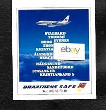 BRAATHENS SAFE NORWAY BOEING 737-200 1990 DESTINATIONS SVALBARD TROMSO OSLO AD