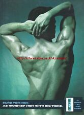 """Sure For Men """"As Worn By Men With Big Ticks"""" 1998 Magazine Advert #5186"""