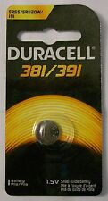 Duracell Watch Battery 381/391 replaces Sr1120Sw, Sr1120W, 191, V391, V381,Sr55