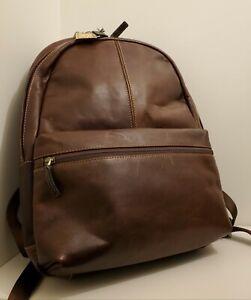 Boconi Garth Slim Profile Cognac Leather Backpack [NEW w/Tags]
