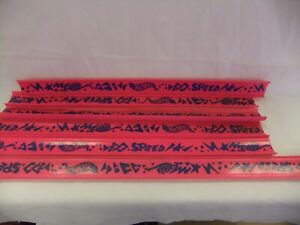Hot Wheels 1988 G Force 1684 Pink Race Track 6 Pieces, Vintage 19 3/4 23 3/4