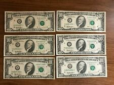 1995 $10 Star Notes currency lot of 6  * Atlanta  * St Louis  * Richmond
