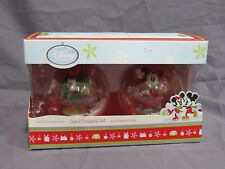 Brand New Disney Store 2011 Mickey & Minnie Mouse Dated Christmas Ornament Set