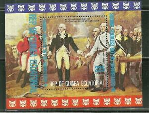 EQUATORIAL GUINEA MNH SOUVENIR SHEET AMERICAN BICENTENNIAL