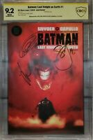 BATMAN: LAST KNIGHT ON EARTH #1 9.2 - 3x SIGNED BY CAPULLO, JOCK, SNYDER NOT CGC