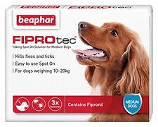 Beaphar FIPROtec Spot On for Medium Dog 10kg-20kg 3 Treatment Pack Flea Tick