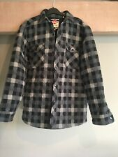 Mens Lee Cooper Fleece Press stud quilted shirt or jacket exc condition size M