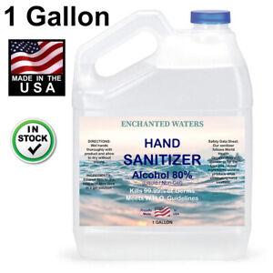 Hand Sanitizer Liquid (Non Gel) 80% Alcohol -Made USA- 1 Gallon - 24hr FREE Ship