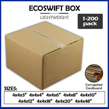4 Corrugated Cardboard Boxes Shipping Supplies Mailing Moving Choose 9 Sizes