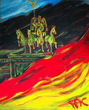 F.S.Pfefferkorn-on top of the gate of victory,Acryl 1977 100 x 80 cm Ausstellung
