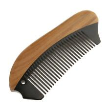 Pocket Sandalwood Buffalo Horn Fine Tooth Hair Comb Beard Brush Massage Tool