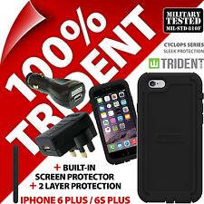 Trident Cyclops Custodia per iPhone 6 Plus/6s PLUS + CARICABATTERIE AUTO USB + CARICATORE RETE USB