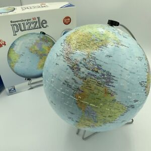 Ravensburger World Globe  540 Piece 3D Jigsaw Puzzle Used Complete