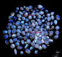 150Crt WHOLESALE LOT NATURAL BLUE MOONSTONE CALIBRATED MIX CABOCHON HOT GEMSTONE