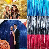Foil Fringe Curtain Tinsel Kid Birthday Party Decor Wedding Home Supply