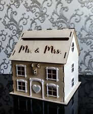 Wedding card box with lock Wood card holder Wedding envelope box House money box