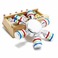 Colourful Silver Gyro Hand Finger Fidget Spinner Toys Focus EDC For adults Gift
