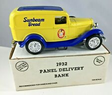 1932 Ford Panel Delivery Locking Coin Bank Sunbeam Bread Vintage 1991 New