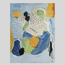 MiTaK art SIGNED ORIGINAL abstract MIXED MEDIA Recycled paper COLLAGE flower Art