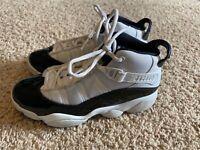 Nike Air Jordan 6 Rings XI 11 Concord Black White 323432 104 Youth Size 3