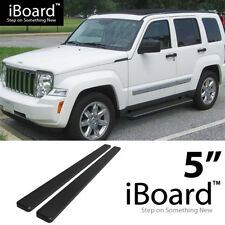 Running Board Side Step Nerf Bars 5in Black Fit Jeep Liberty 02-07