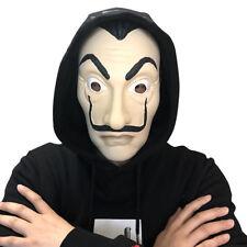 La Casa De Papel Mask Salvador Dali Latex Cosplay Adult Mask Halloween Props