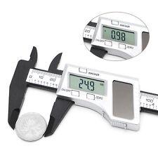 150mm 6 inch Solar Power Electronic Vernier Digital LCD Gauge Micrometer Caliper