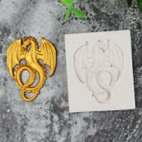 3D Dragon Fondant Silicone Mould Cake Chocolate Decoration Baking Tool Mold G