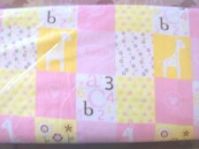 B121 Little Cutie Pink box pattern fabric Flannel Material New Sold BTY