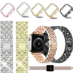Bling Bracelet Watch Strap Case for Apple iWatch Series 5 4 3 2 1 Band Cover Set