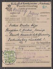 Denmark 1951. Duplicate of reciept for sending expres parcel to Sweden.